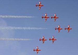 印度空军的特技飞行中队。资料图片