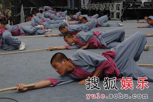 巨石传奇·情动华山晚会图片--塔沟武术学校