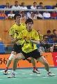 图文:中国羽毛球队内对抗 黄金组合配合默契