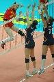 图文:宁波站中国3比0荷兰 薛明扣球