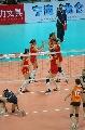 图文:宁波站中国3比0荷兰 赛后击掌欢庆