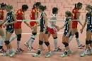 图文:宁波站中国3比0荷兰 赛后握手