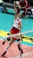 图文:北仑杯中国轻取多米尼加 张越红网前吊球