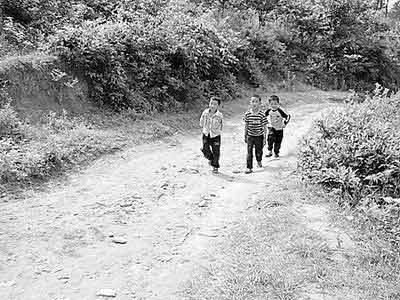 村中的孩子在路上的安全成为家长们最为担心的事情。