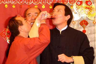2007年2月19日 共饮交杯酒