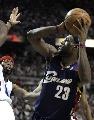 图文:[NBA]骑士VS活塞  小皇帝后仰跳投