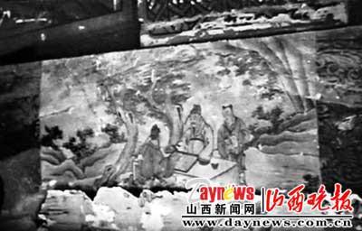 去年6月所拍的文昌祠正殿的彩绘图案