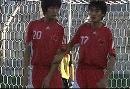 图文:[土伦杯]中国国奥VS葡萄牙 人墙防任意球