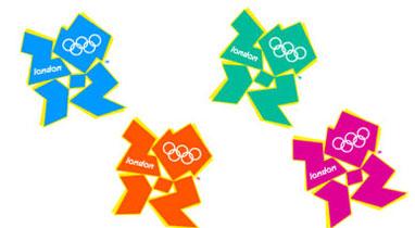 伦敦奥运会会徽有四种颜色选择