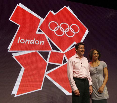 图文:2012奥运会徽宣布塞巴斯蒂安科与霍姆斯