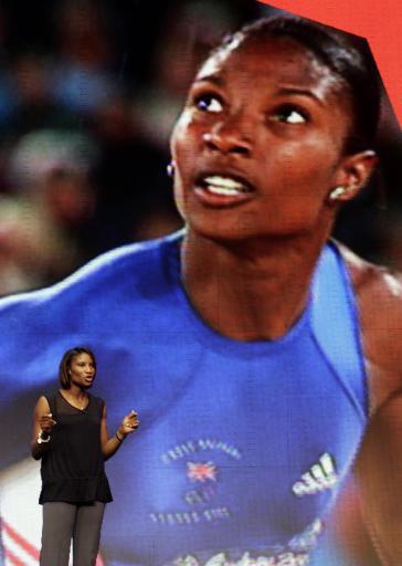 图文:伦敦奥运会徽发布 七项全能运动员刘易斯
