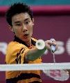 图文-马来西亚羽球名将李宗伟 多哈亚运获铜牌