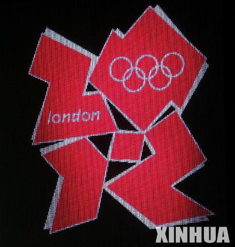 6月4日,伦敦奥组委举行仪式,公布2012年奥运会和残奥会会徽图案。图为2012年伦敦奥运会会徽。