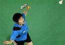 图文:苏杯中国二号男单鲍春来 印尼不敌李宗伟