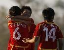 图文:[女足]中国1-0阿根廷 刘亚莉庆祝进球