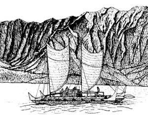 波利尼西亚人航行图。(资料图片)