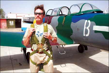 克劳斯在山西大同体验飞行 摄影:鲁晓冬