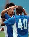 图文:[A3]申花3-0城南一和 里卡多庆祝进球