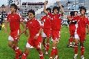 图文:[土伦杯]国奥5-3科特迪瓦 国奥庆祝胜利