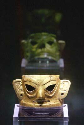 配金沙金面具揭开神秘面纱-神秘的金面具