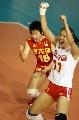 图文:中国速胜塞尔维亚 李娟和张娴振臂欢呼