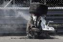 图文:[F1]加拿大站决赛 受损的宝马赛车