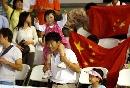 图文:中国女排三度折桂 快乐的中国球迷
