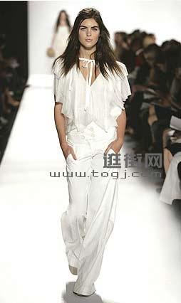清纯模特 演绎纯真白色(4款)