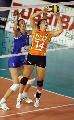 图文:荷兰女排名第三 弗里德卢斯传球