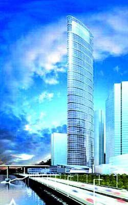 重庆将建西部第一高楼 嘉陵帆影98层398米