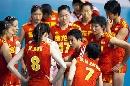 图文:中国女排三度折桂 陈忠和指导队员