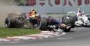 图文:[F1]加拿大站决赛 韦伯比赛中也屡屡出轨
