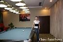 图文:潘晓婷与父母亮相自家台球厅 再展英姿