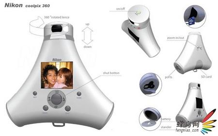 360度拍摄! 网友设计新型尼康数码相机