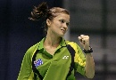 图文:苏迪曼杯第一比赛日 澳大利亚美女球员