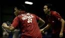 图文:苏迪曼杯第一比赛日 印尼男双基多与塞提万