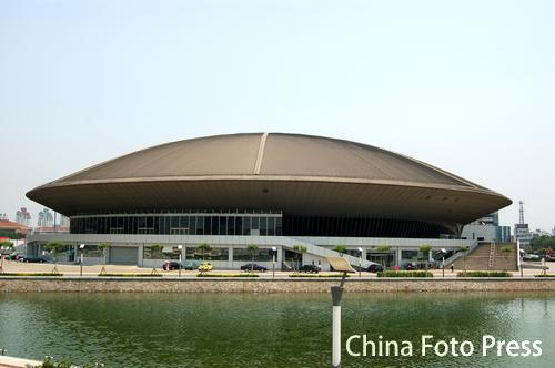 天津奥林匹克中心体育场 主体育场全景图