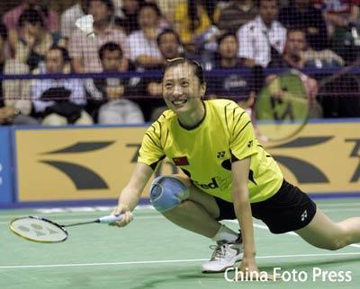图文:苏迪曼杯次日中国女单取胜 张宁轻松迎敌