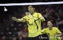 图文:苏迪曼杯中国5比0英格兰 女双在比赛中