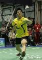 图文:蔡�S/傅海峰2-0战胜对手 付海峰健步回球