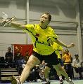 图文:中国5-0胜英格兰 高��网前回球