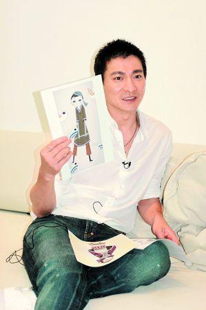 早前到台北,刘德华还抽空到导演制作室研究动画MV的制作