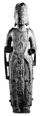 石雕菩萨像(北齐),现存于大英博物馆