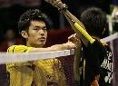 图文:男单林丹意外负于李宗伟 是对手也是朋友
