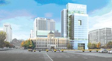 图为首尔市政府新办公楼效果图 刘复晨 供图