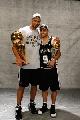 图文:[NBA]马刺夺冠 邓肯与帕克