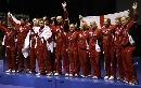 图文:印尼3-2胜英格兰进决赛 英格兰登领奖台
