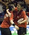 图文:印尼3-2胜英格兰进决赛 普利拥抱玛丽莎