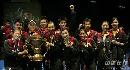 图文:中国队成功卫冕苏迪曼杯 获胜队伍像太阳