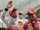 图文:[F1]美国大奖赛决赛 笑容满面的车手